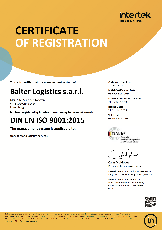 Zertifikat 2019 EN