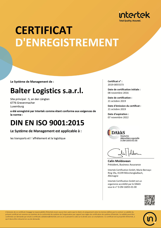 Zertifikat 2019 FR